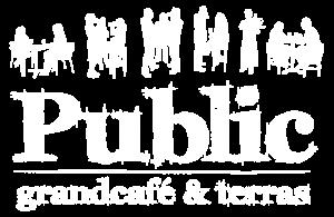 Grandcafe Public logo wit