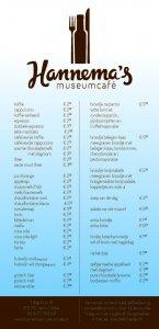 menukaart Hannema 2016